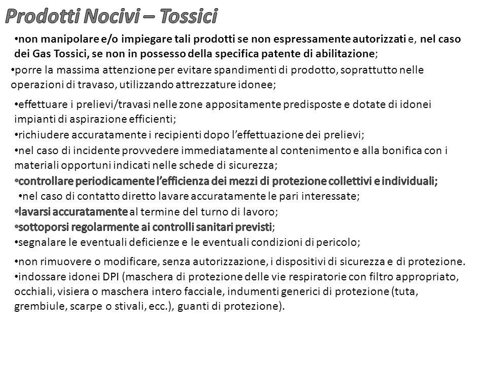 Prodotti Nocivi – Tossici