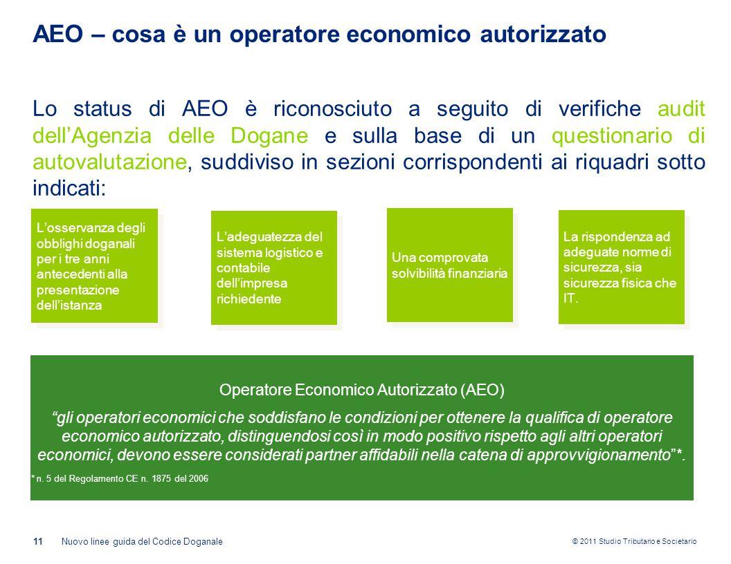 AEO – cosa è un operatore economico autorizzato