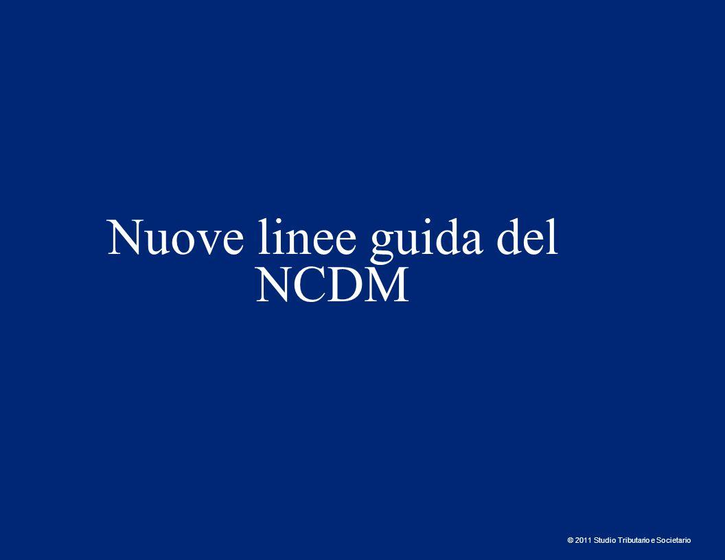 Nuove linee guida del NCDM