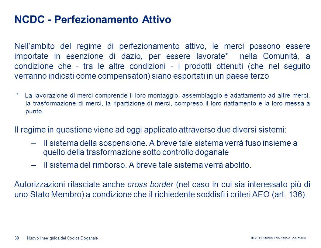 NCDC - Perfezionamento Attivo