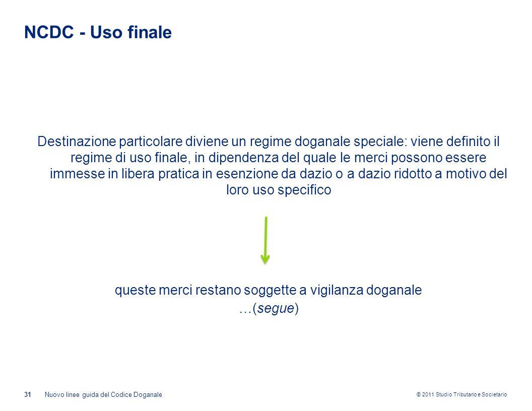 NCDC - Uso finale