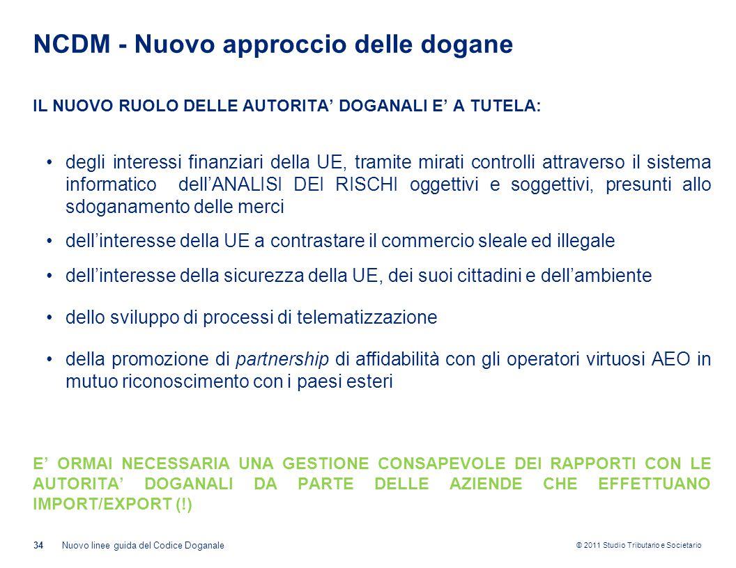 NCDM - Nuovo approccio delle dogane