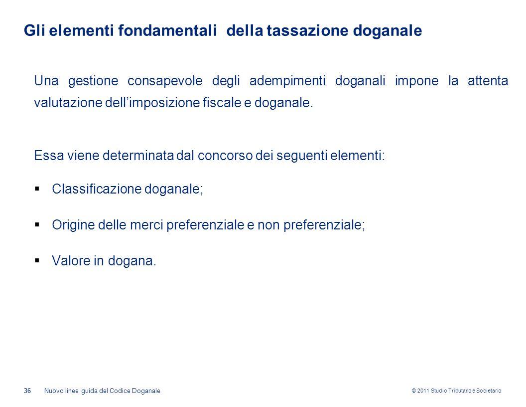 Gli elementi fondamentali della tassazione doganale