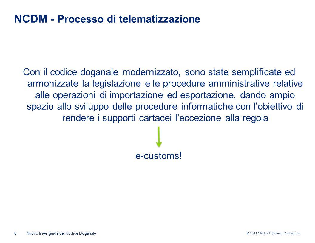 NCDM - Processo di telematizzazione