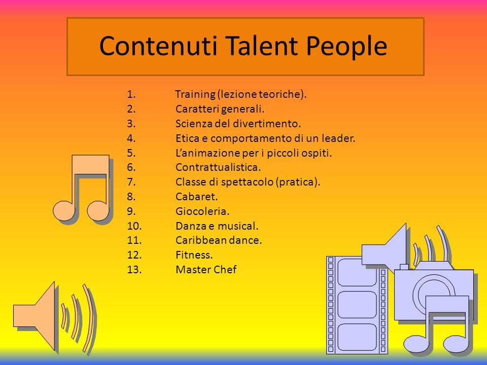 Contenuti Talent People