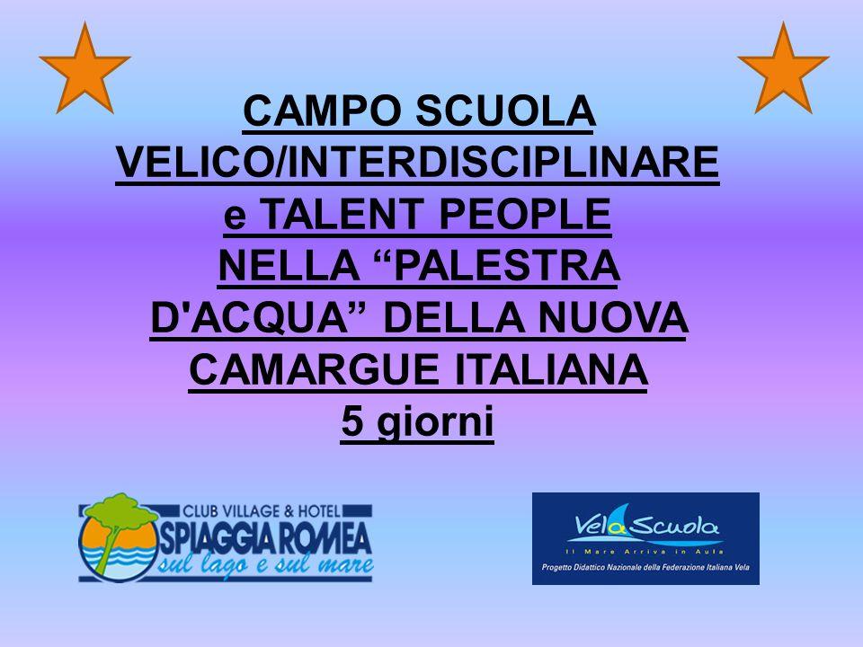 CAMPO SCUOLA VELICO/INTERDISCIPLINARE
