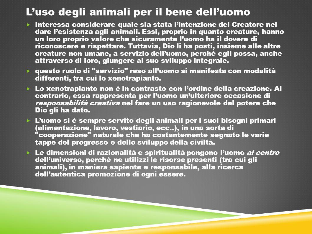 L'uso degli animali per il bene dell'uomo