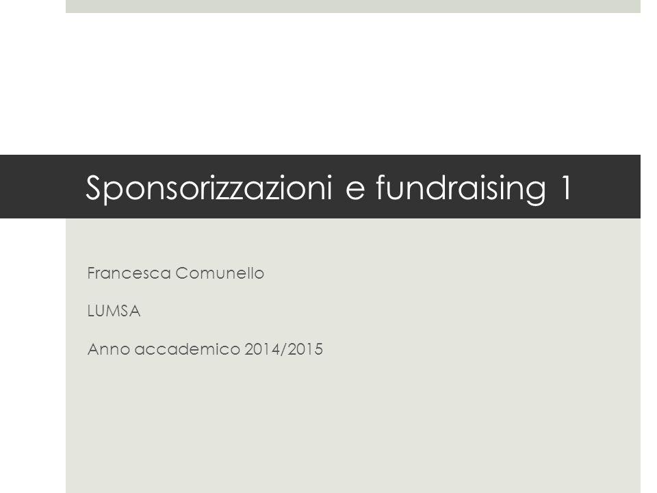 Sponsorizzazioni e fundraising 1
