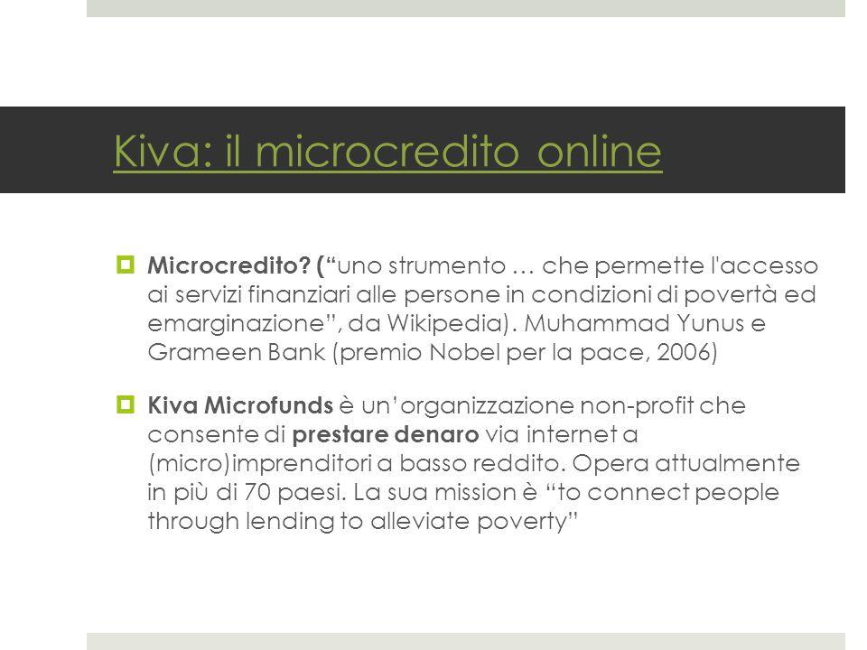 Kiva: il microcredito online