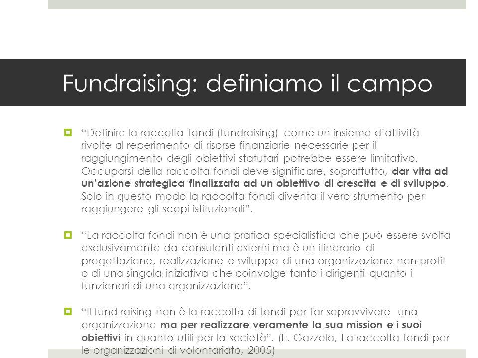 Fundraising: definiamo il campo
