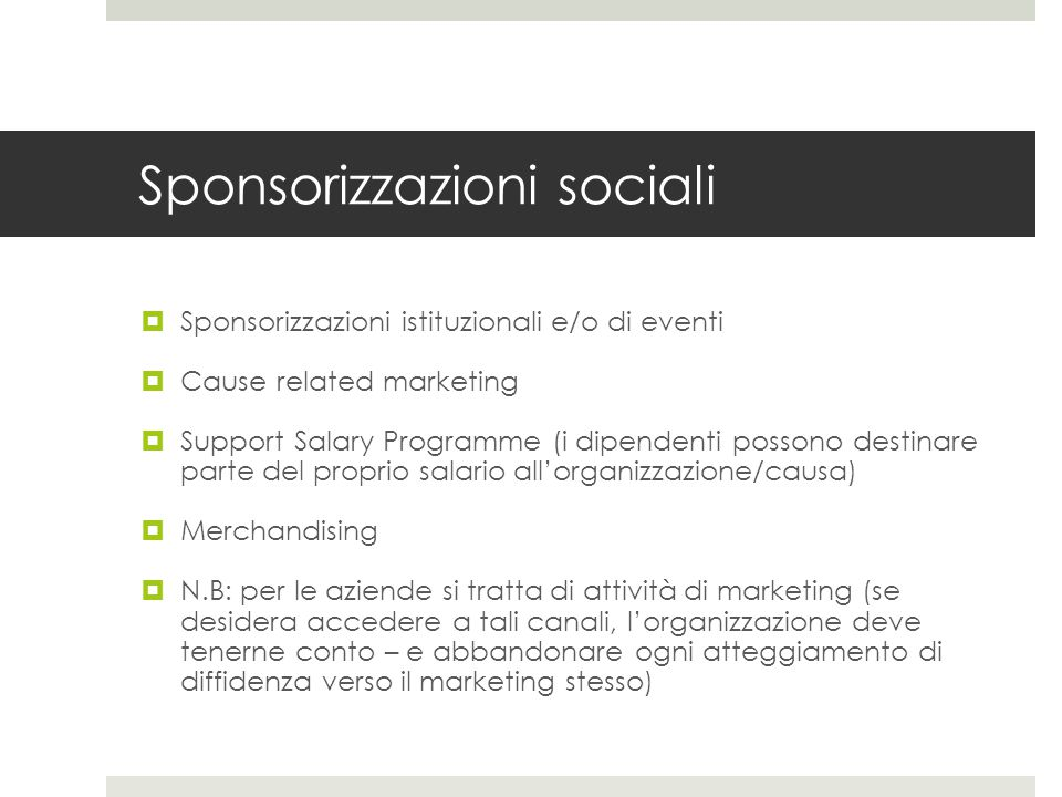 Sponsorizzazioni sociali