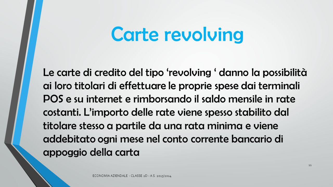 Carte revolving
