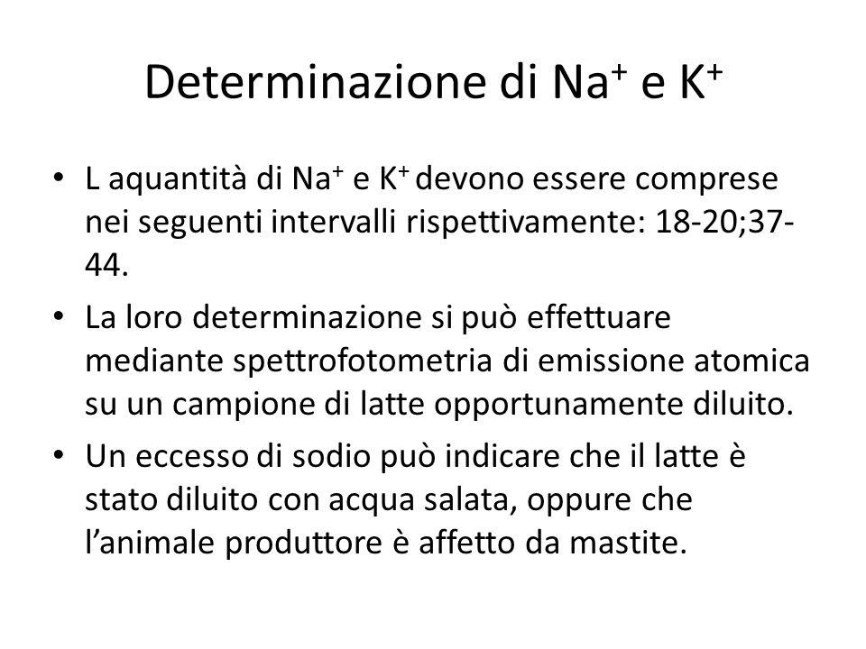 Determinazione di Na+ e K+