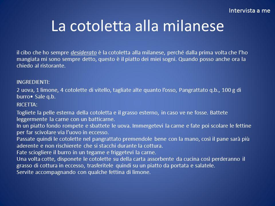 La cotoletta alla milanese
