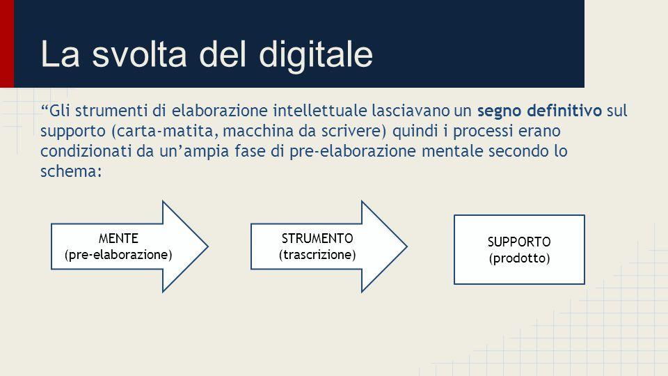 La svolta del digitale