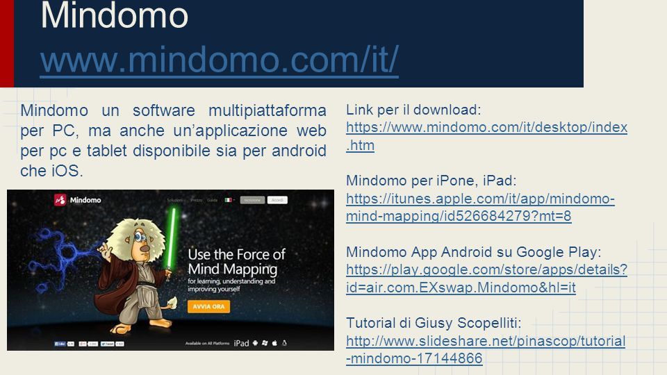 Mindomo www.mindomo.com/it/