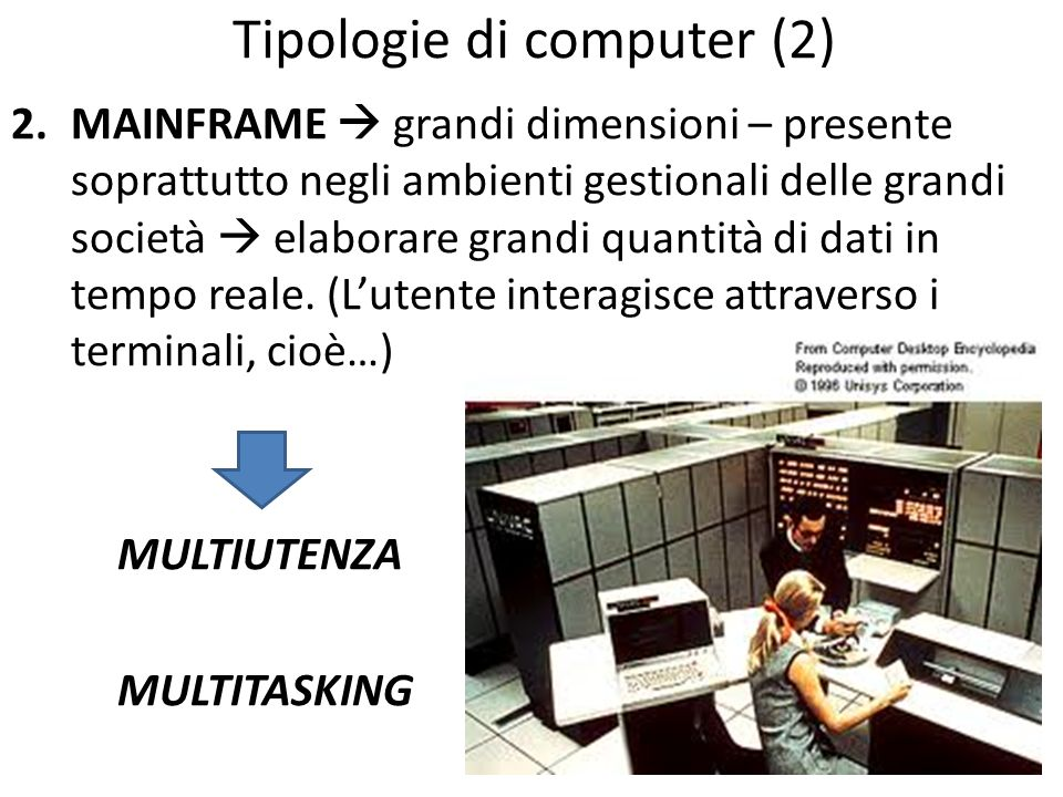 Tipologie di computer (2)