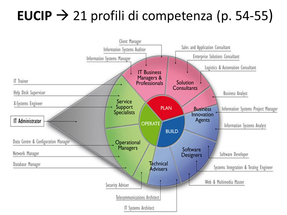 EUCIP  21 profili di competenza (p. 54-55)