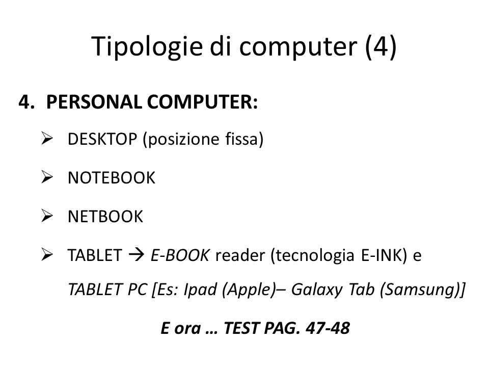 Tipologie di computer (4)