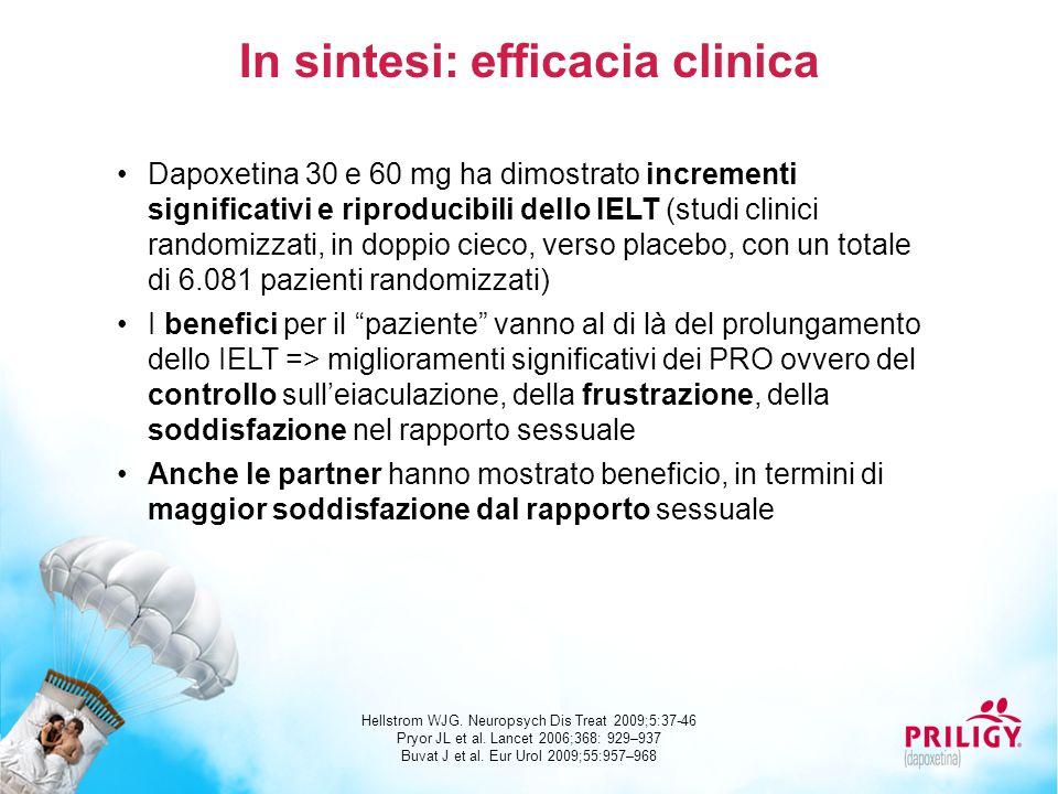 In sintesi: efficacia clinica