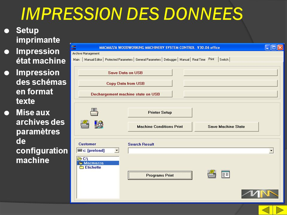 IMPRESSION DES DONNEES