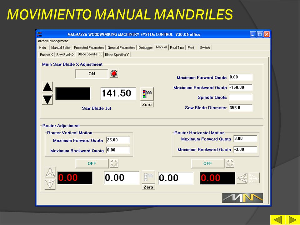 MOVIMIENTO MANUAL MANDRILES