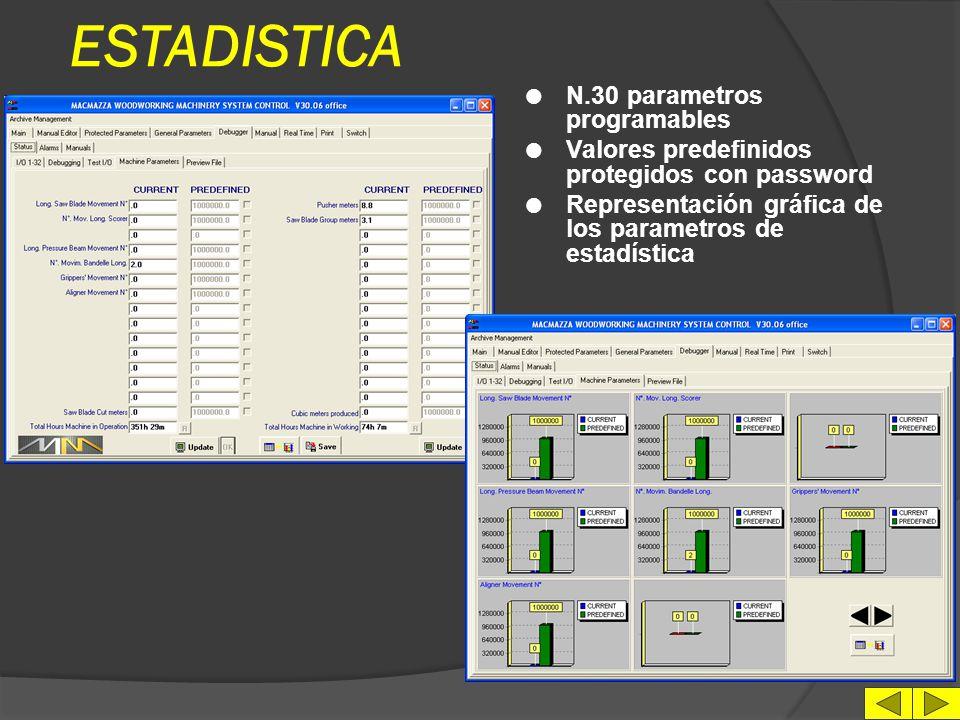 ESTADISTICA N.30 parametros programables