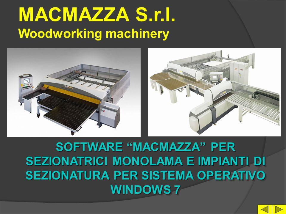 MACMAZZA S.r.l. Woodworking machinery