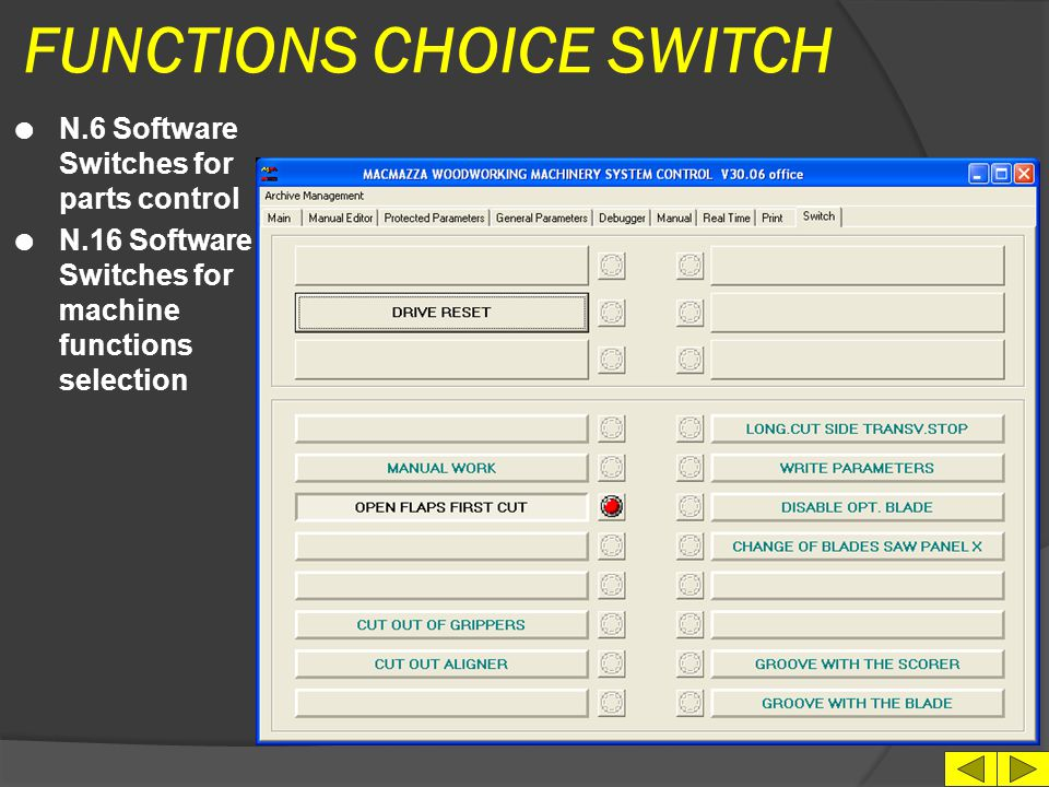FUNCTIONS CHOICE SWITCH