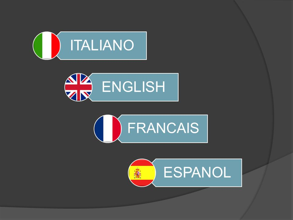 ITALIANO ENGLISH FRANCAIS ESPANOL