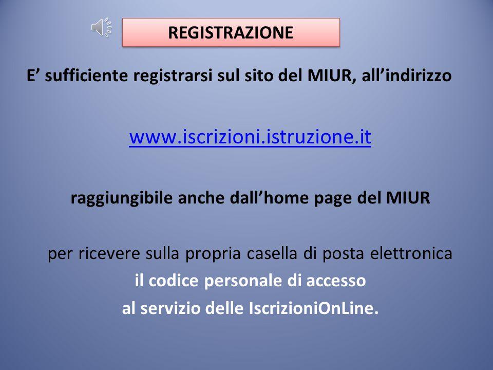 www.iscrizioni.istruzione.it REGISTRAZIONE