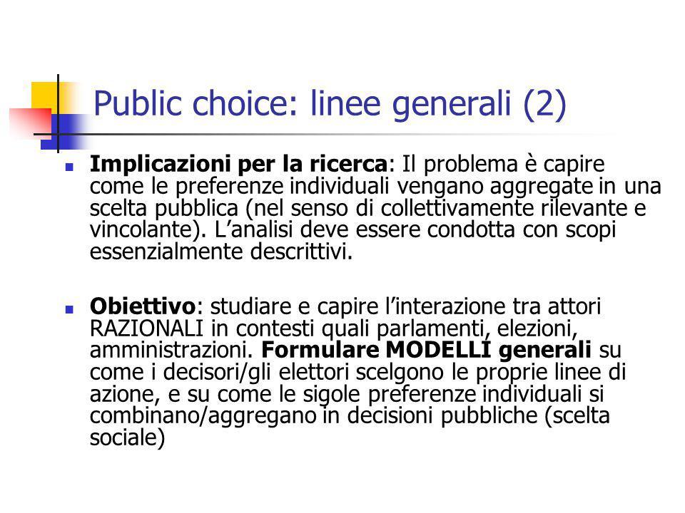 Public choice: linee generali (2)