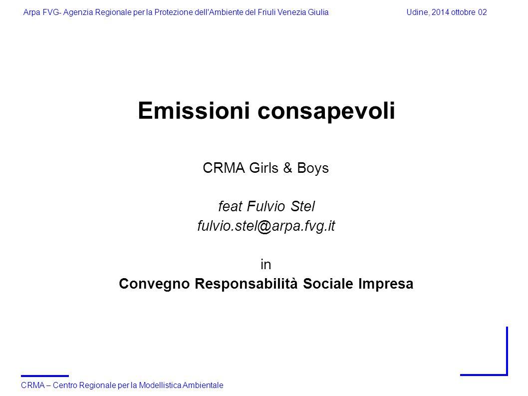Emissioni consapevoli Convegno Responsabilità Sociale Impresa