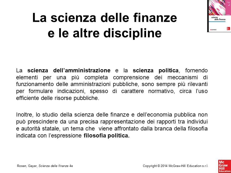 La scienza delle finanze e le altre discipline