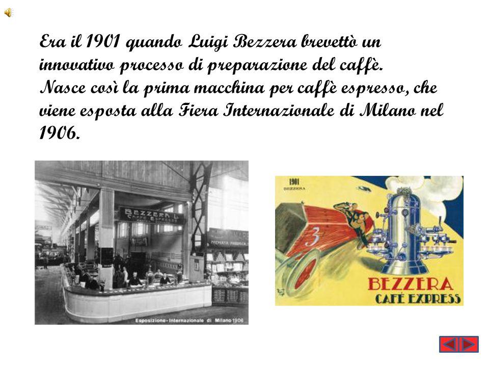 Era il 1901 quando Luigi Bezzera brevettò un innovativo processo di preparazione del caffè.
