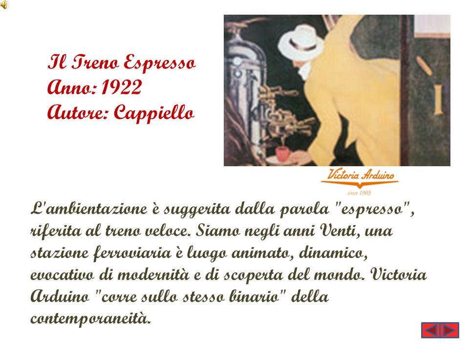 Il Treno Espresso Anno: 1922 Autore: Cappiello