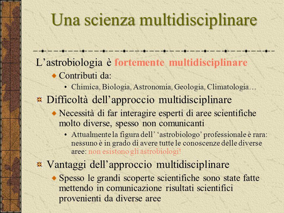Una scienza multidisciplinare