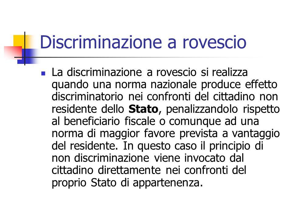 Discriminazione a rovescio