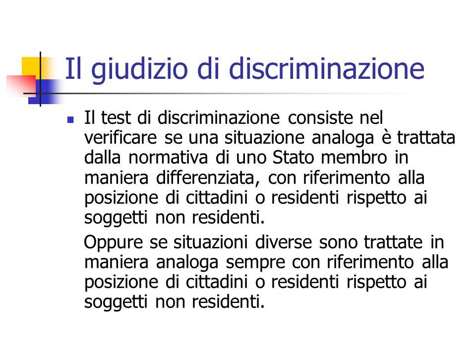 Il giudizio di discriminazione