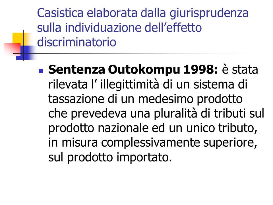 Casistica elaborata dalla giurisprudenza sulla individuazione dell'effetto discriminatorio