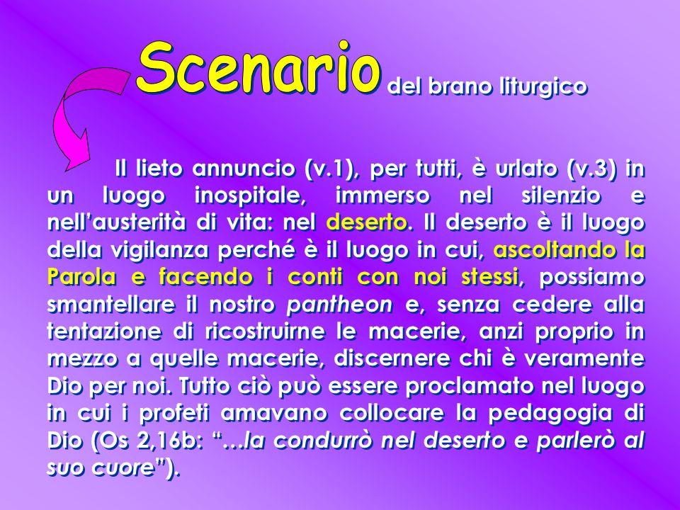 Scenario del brano liturgico