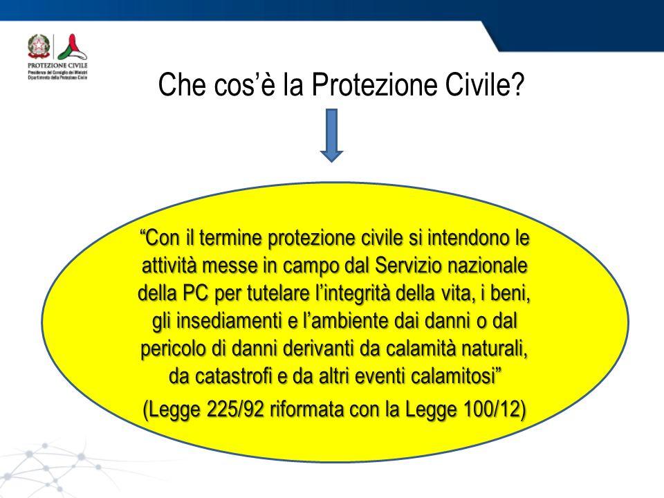 Che cos'è la Protezione Civile