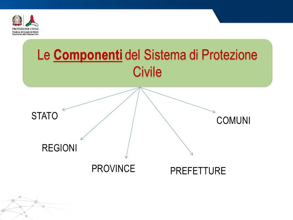 Le Componenti del Sistema di Protezione Civile