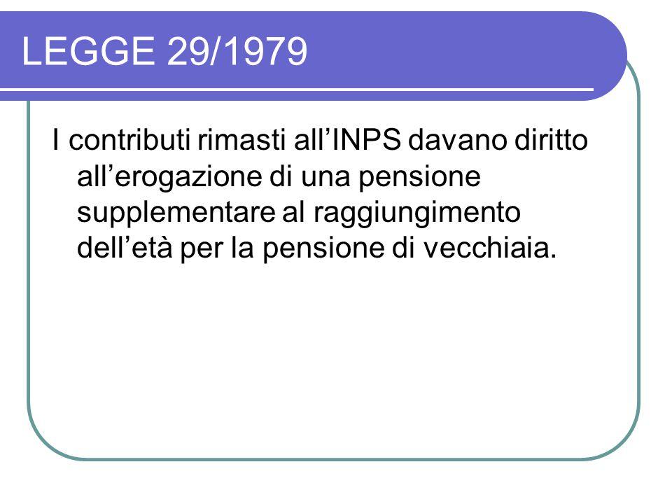 LEGGE 29/1979