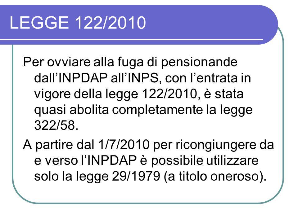 LEGGE 122/2010