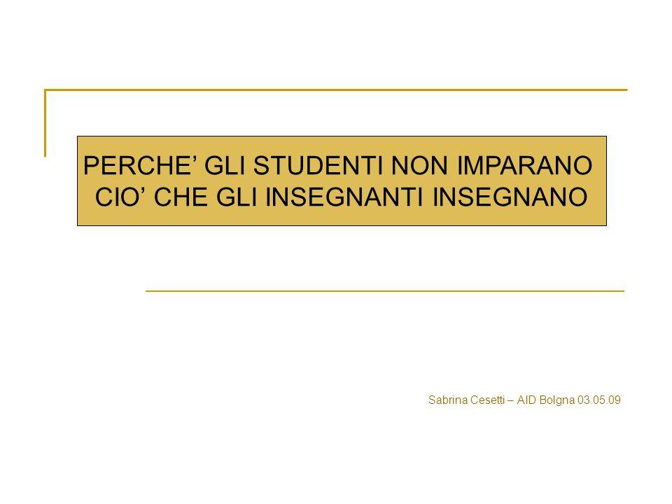 Sabrina Cesetti – AID Bolgna 03.05.09