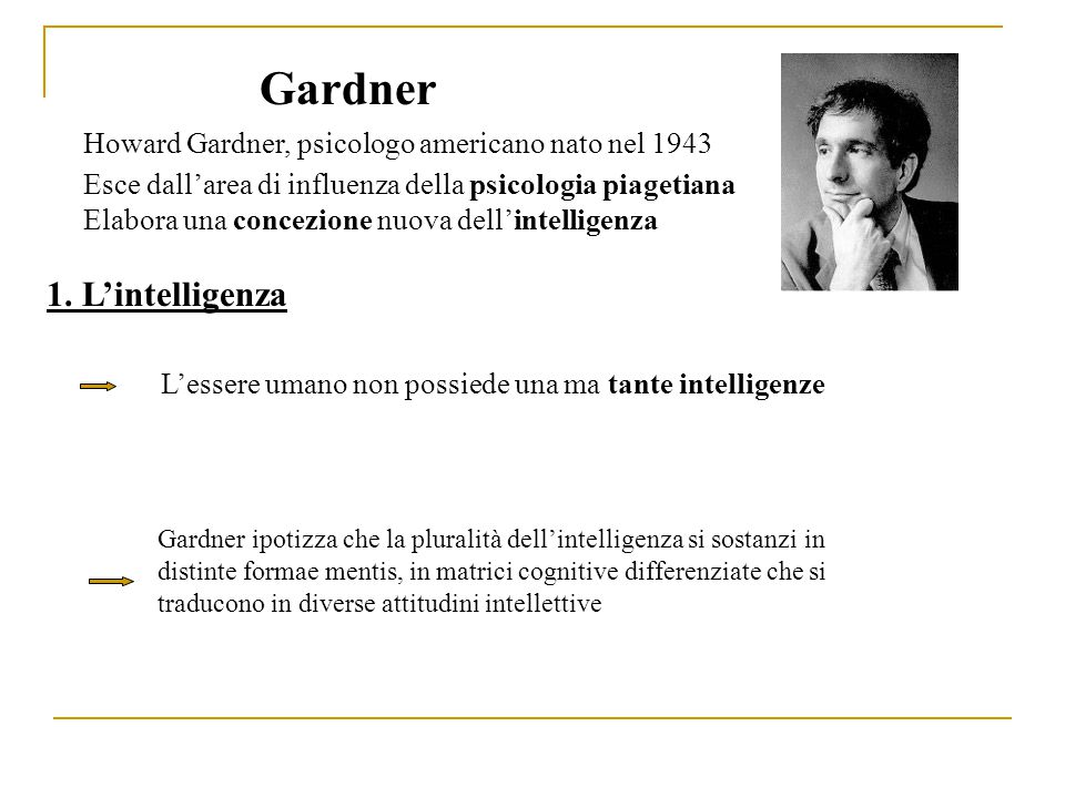 Gardner 1. L'intelligenza