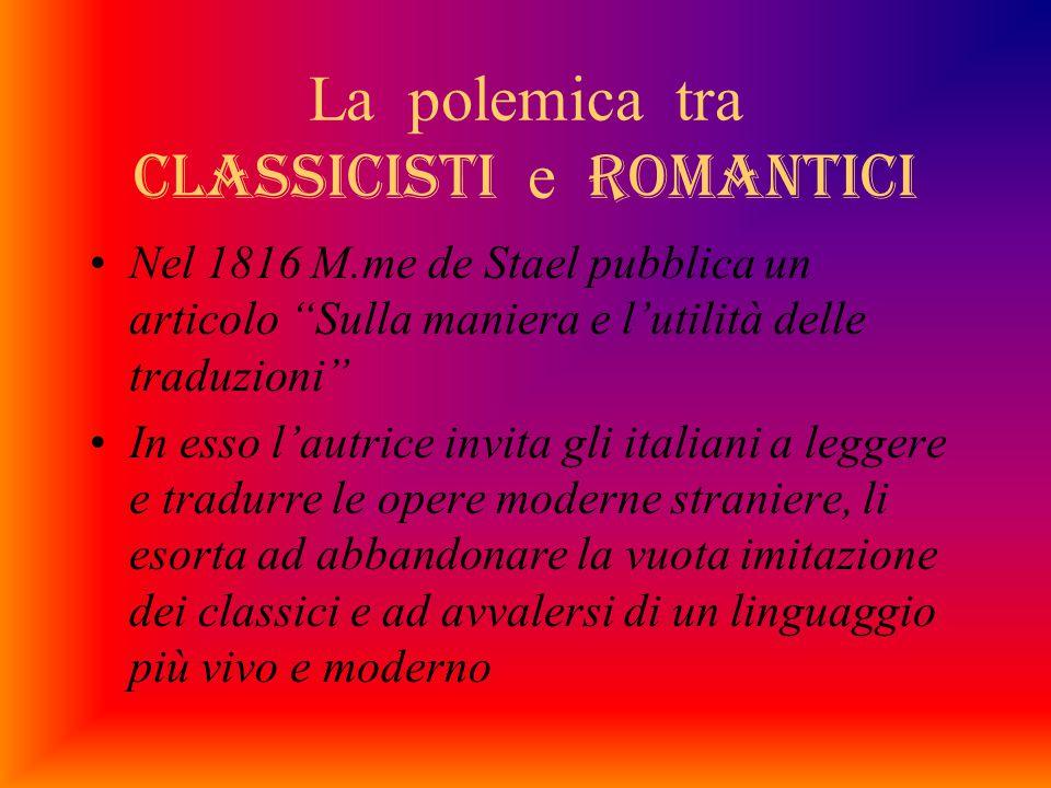La polemica tra classicisti e romantici