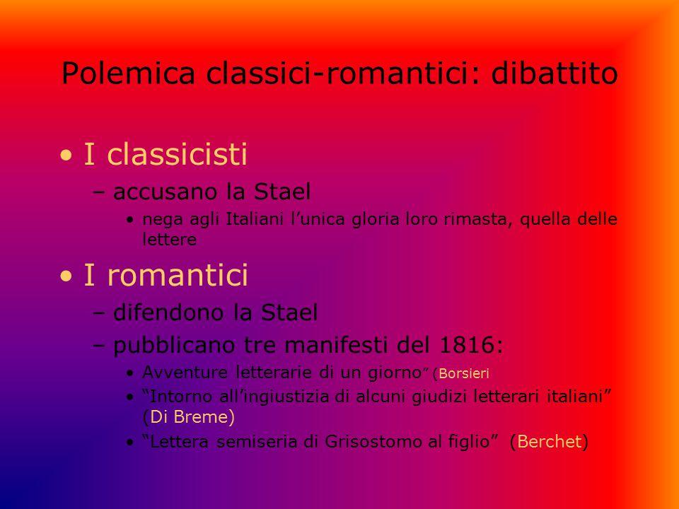 Polemica classici-romantici: dibattito