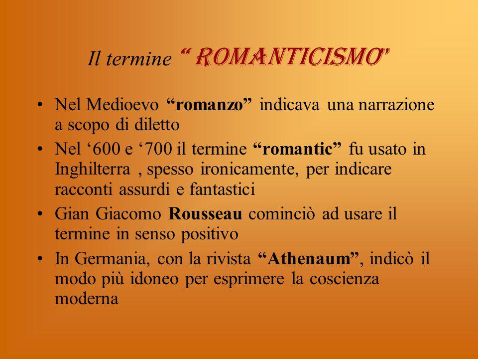 Il termine ROMANTICISMO